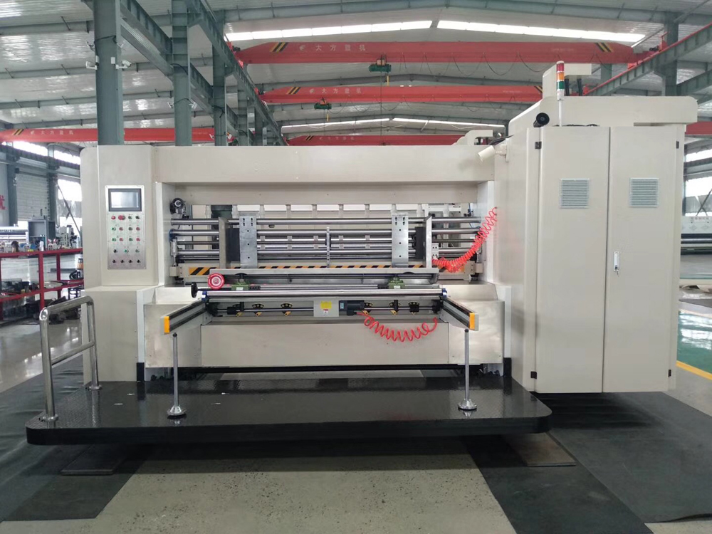 Flexo Printer Slotter Die Cutter Machine Waiting for Shipping