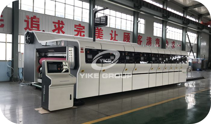 Automatic High-Defination Flexo Printing Slotting And Die Cutting Machine Go For Customer Factory Working