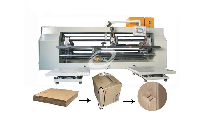 Semi Type Double Pieces Stitcher Machine