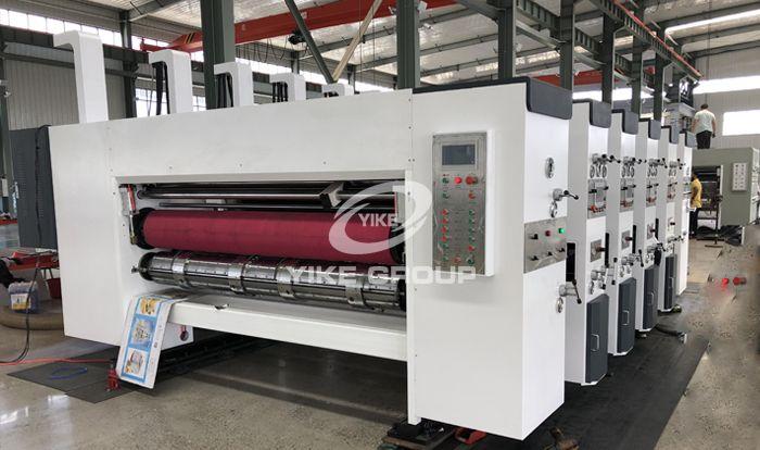 Lead Edge Flexo 4 Color Printer Die Cutter Machine