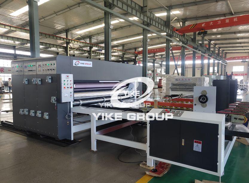 YKC-1224 Auto Feeder Chain Type Flexo Printer Slotter Machine For Customer