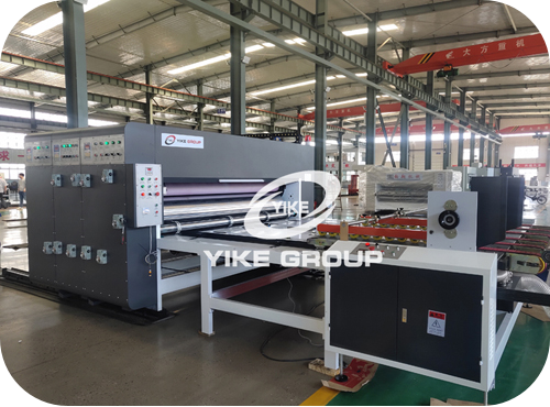 YKC-1224 Auto Feeder Chain Type Flexo Printer Slotter Machine For Customer