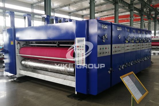 High Speed Flexo 4 Color Printer Rotary Die Cutter Machine
