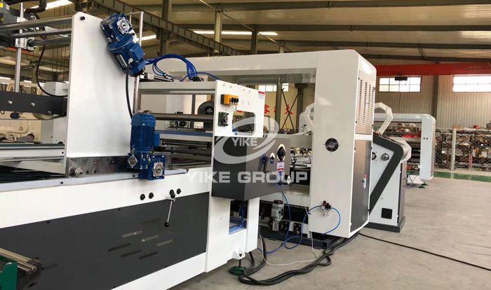 Automatic Folding Gluing and Stitching Machine